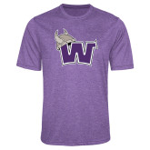 Performance Purple Heather Contender Tee-Waldorf W