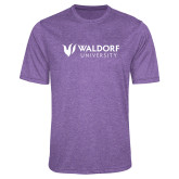 Performance Purple Heather Contender Tee-Waldorf University Academic Mark Flat