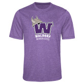 Performance Purple Heather Contender Tee-W Waldorf Warriors