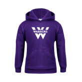 Youth Purple Fleece Hoodie-W Warriors