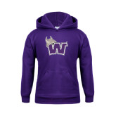 Youth Purple Fleece Hoodie-Waldorf W