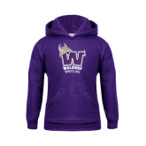 Youth Purple Fleece Hoodie-Wrestling