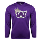 Performance Purple Longsleeve Shirt-Waldorf W