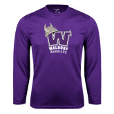Performance Purple Longsleeve Shirt-W Waldorf Warriors