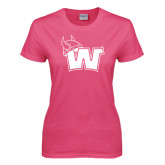 Ladies Fuchsia T Shirt-Waldorf W