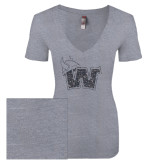 Next Level Ladies Vintage Heather Tri Blend V Neck Tee-Waldorf W
