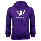 Purple Fleece Hoodie-Stacked W Waldorf
