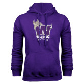 Purple Fleece Hood-Football