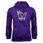 Purple Fleece Hood-Wrestling