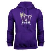 Purple Fleece Hoodie-Womans Wrestling