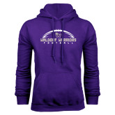 Purple Fleece Hood-Arched Football Design
