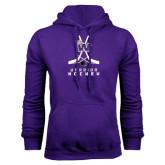 Purple Fleece Hoodie-Hockey Sticks Design