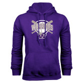 Purple Fleece Hood-Softball Bats and Plate Design