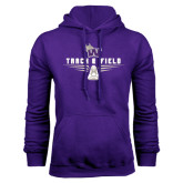 Purple Fleece Hood-Track and Field Design