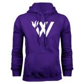 Purple Fleece Hoodie-Waldorf W Academic Mark