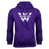Purple Fleece Hood-W Warriors