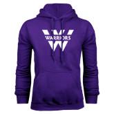 Purple Fleece Hoodie-W Warriors