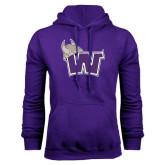 Purple Fleece Hoodie-Waldorf W
