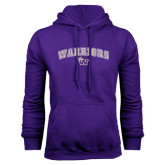 Purple Fleece Hood-Arched Warriors w/ Waldorf W