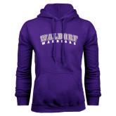 Purple Fleece Hoodie-Arched Waldorf Warriors