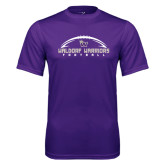 Syntrel Performance Purple Tee-Arched Football Design