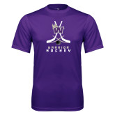 Performance Purple Tee-Hockey Sticks Design