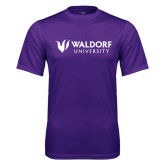 Performance Purple Tee-Waldorf University Academic Mark Flat