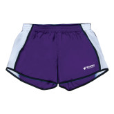 Ladies Purple/White Team Short-Waldorf University Academic Mark Flat