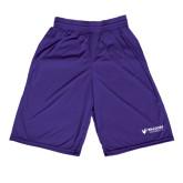 Performance Classic Purple 9 Inch Short-Waldorf University Academic Mark Flat