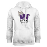 White Fleece Hood-W Waldorf Warriors