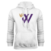 White Fleece Hood-Waldorf W Academic Mark