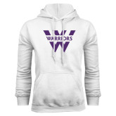 White Fleece Hood-W Warriors
