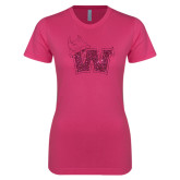 Ladies SoftStyle Junior Fitted Fuchsia Tee-Waldorf W