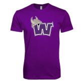 Next Level SoftStyle Purple T Shirt-Waldorf W