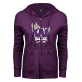 ENZA Ladies Purple Fleece Full Zip Hoodie-Grandma