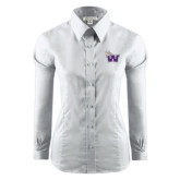 Ladies Red House White Long Sleeve Shirt-Waldorf W