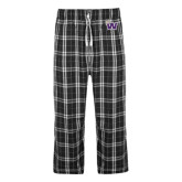 Black/Grey Flannel Pajama Pant-Waldorf W