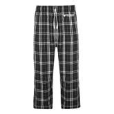 Black/Grey Flannel Pajama Pant-Waldorf University Academic Mark Flat