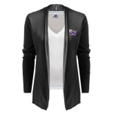 Ladies Black Open Front Cardigan-Waldorf W