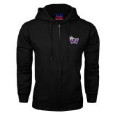 Black Fleece Full Zip Hoodie-Waldorf W