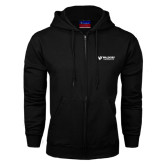 Black Fleece Full Zip Hood-Waldorf University Academic Mark Flat