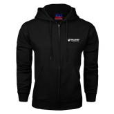 Black Fleece Full Zip Hoodie-Waldorf University Academic Mark Flat
