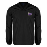 V Neck Black Raglan Windshirt-Waldorf W