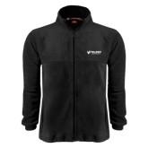 Fleece Full Zip Black Jacket-Waldorf University Academic Mark Flat