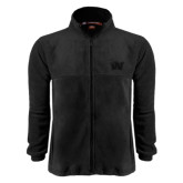 Fleece Full Zip Black Jacket-Waldorf W