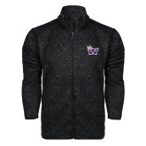 Black Heather Fleece Jacket-Waldorf W