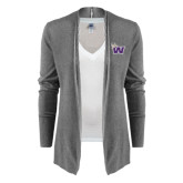 Ladies Heather Grey Open Front Cardigan-Waldorf W