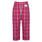 Ladies Dark Fuchsia/White Flannel Pajama Pant-Waldorf W