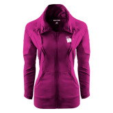 Ladies Sport Wick Stretch Full Zip Deep Berry Jacket-Waldorf W