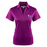 Ladies Purple Performance Fine Jacquard Polo-Waldorf W